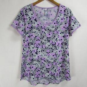 LuLaRoe Skulls Classic Tee Tshirt Halloween Top